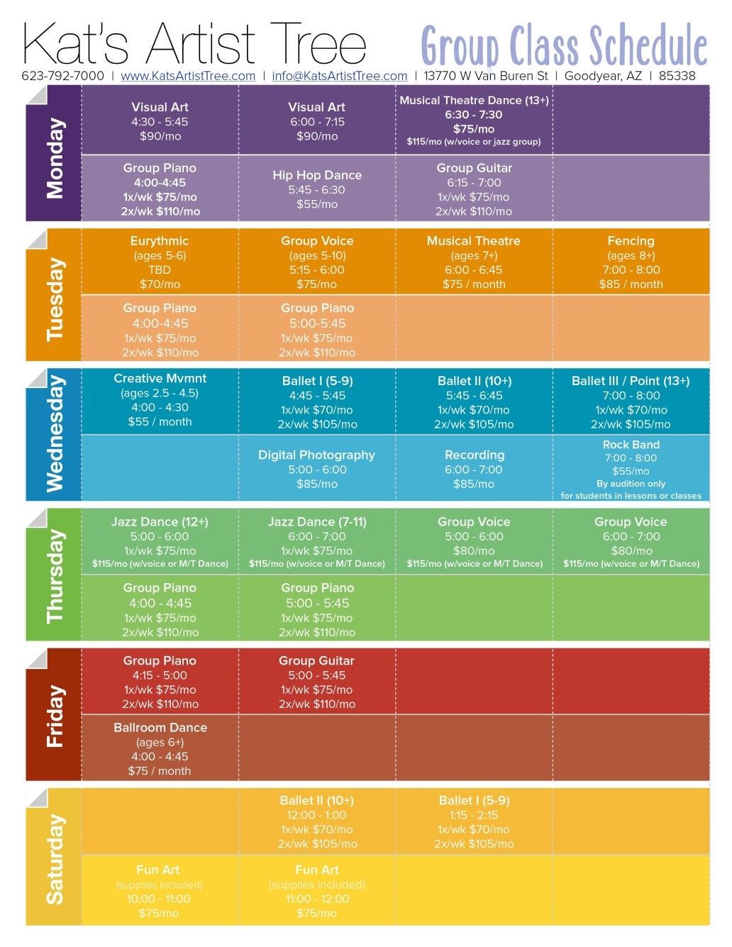 Class Schedule v8